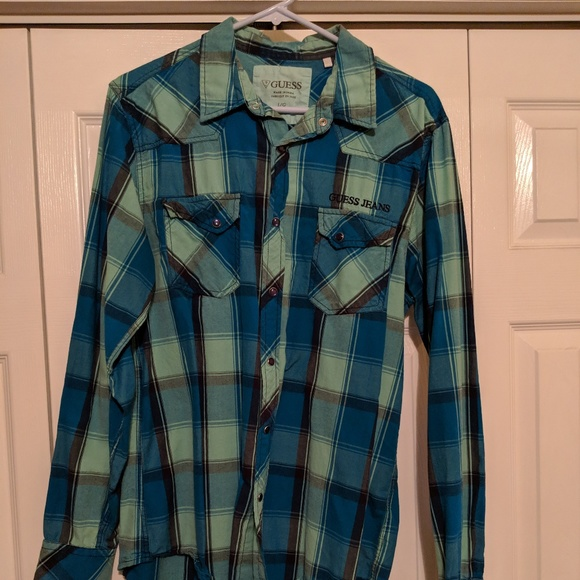 Guess Other - Guess Plaid Button Down Shirt - Size L/G - Great!